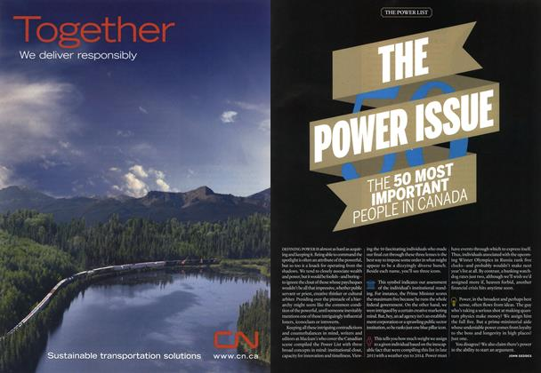 Article Preview: THE POWER ISSUE, December 2013 | Maclean's