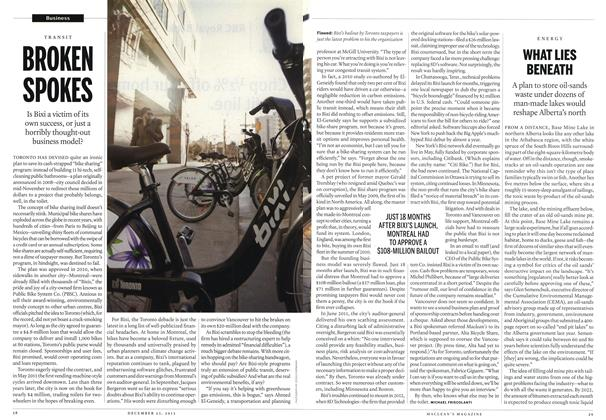 Article Preview: BROKEN SPOKES, December 2013 | Maclean's