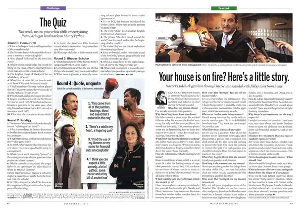 Article Preview: Your house is on fire? Here's a little story., December 2013 | Maclean's