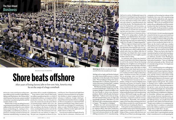 Article Preview: Shore beats offshore, DECEMBER 30, 2013 & JANUARY 6, 2014 2013 | Maclean's