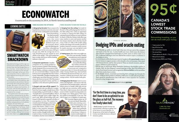 Article Preview: ECONOWATCH, DECEMBER 30, 2013 & JANUARY 6, 2014 2013 | Maclean's