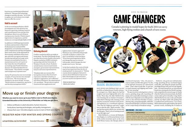 Article Preview: GAME CHANGERS, DECEMBER 30, 2013 & JANUARY 6, 2014 2013 | Maclean's