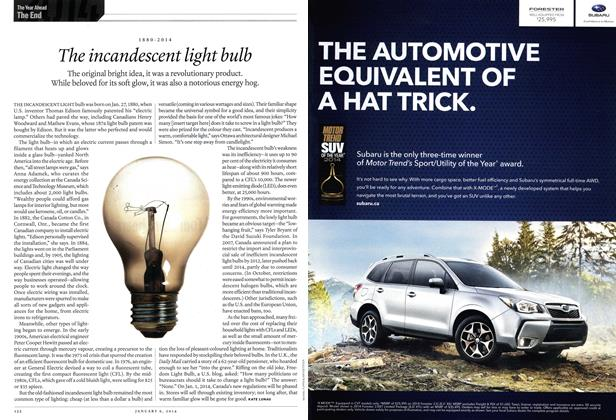 Article Preview: 1880-2014 The incandescent light bulb, DECEMBER 30, 2013 & JANUARY 6, 2014 2013 | Maclean's