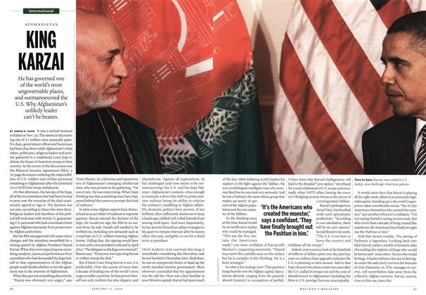 Article Preview: KING KARZAI, January 2014 | Maclean's