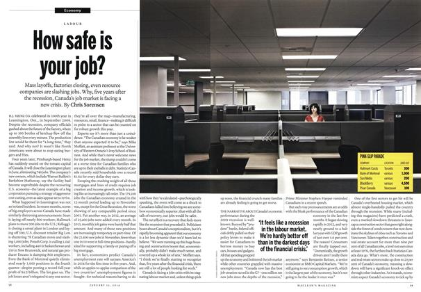 Article Preview: How safe is your job?, January 2014 | Maclean's
