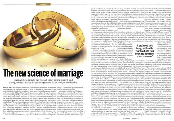 Article Preview: The new science of marriage, January 2014 | Maclean's