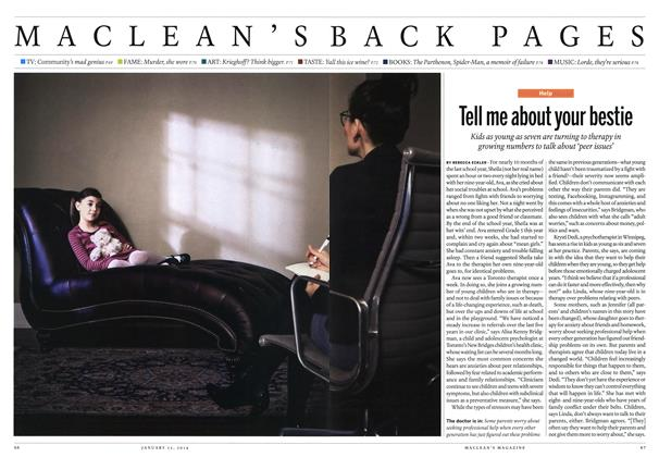 Article Preview: Tell me about your bestie, January 2014 | Maclean's