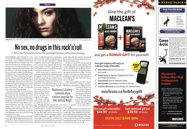 Article Preview: No sex, no drugs in this rock'n'roll, January 2014 | Maclean's