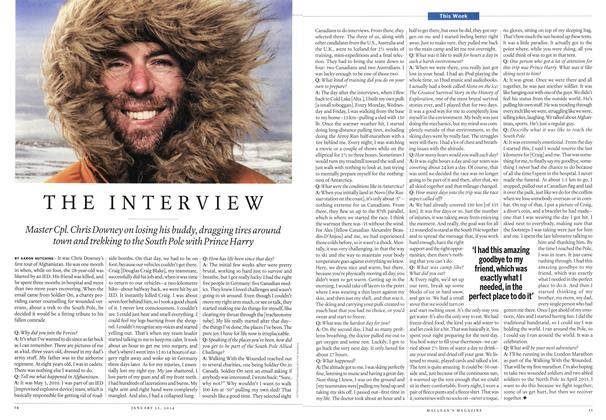 Article Preview: THE INTERVIEW, January 2014 | Maclean's