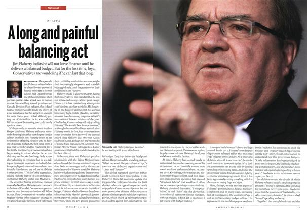 Article Preview: A long and painful balancing act, January 2014 | Maclean's