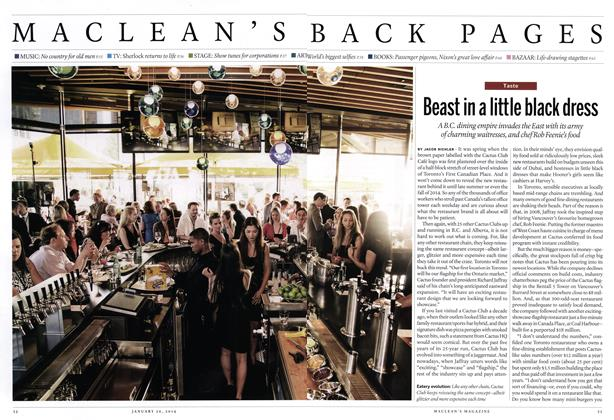 Article Preview: Beast in a little black dress, January 2014 | Maclean's