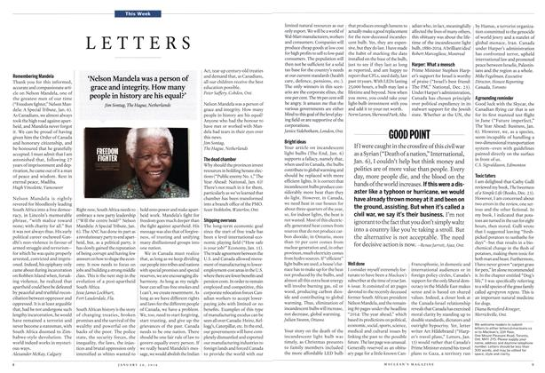 Article Preview: LETTERS, January 2014 | Maclean's