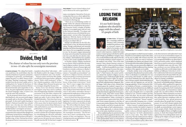 Article Preview: Divided, they fall, January 2014 | Maclean's