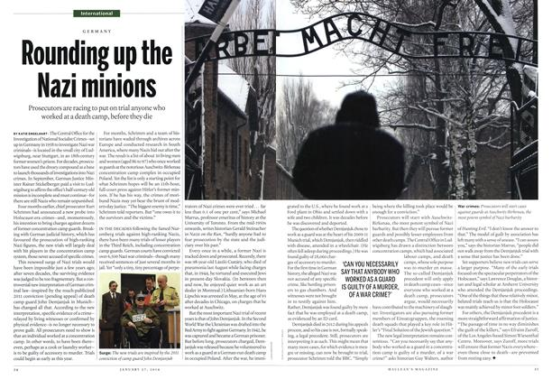 Article Preview: Rounding up the Nazi minions, January 2014 | Maclean's