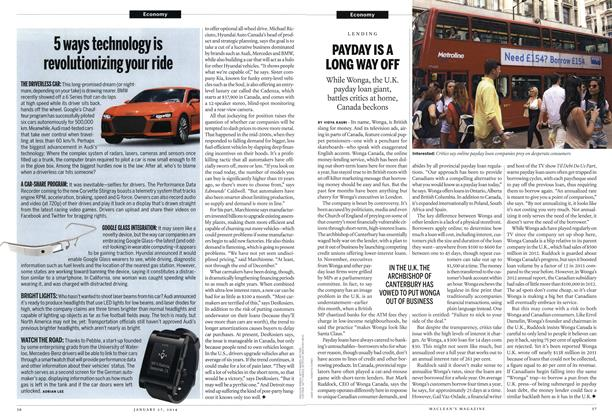 Article Preview: 5 ways technology is revolutionizing your ride, January 2014 | Maclean's