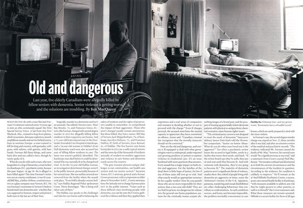 Article Preview: Old and dangerous, January 2014 | Maclean's