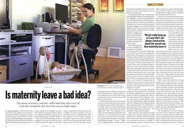 Article Preview: IS maternity leave a bad idea?, January 2014 | Maclean's