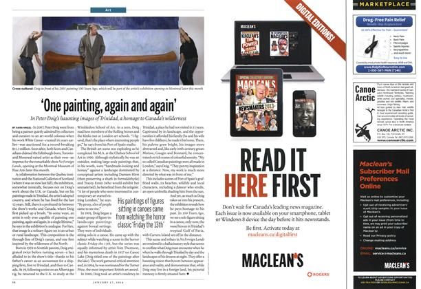 Article Preview: 'One painting, again and again', January 2014 | Maclean's
