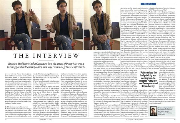 Article Preview: THE INTERVIEW, January 2014   Maclean's