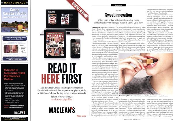 Article Preview: Sweet innovation, February 2014 | Maclean's