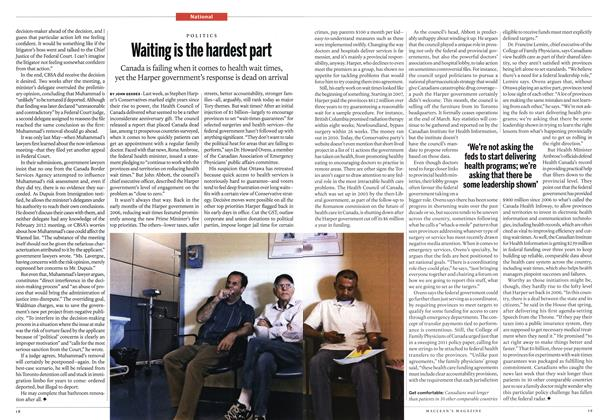 Article Preview: Waiting is the hardest part, February 2014 | Maclean's