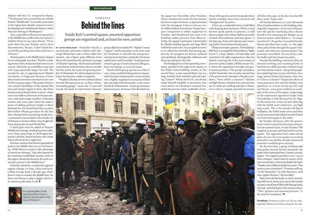 Article Preview: Behind the lines, February 2014 | Maclean's