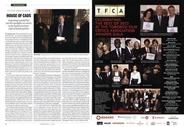 Article Preview: HOUSE OF CADS, February 2014 | Maclean's
