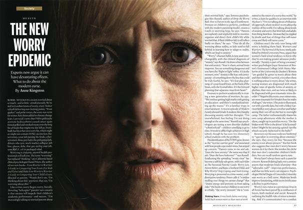 Article Preview: THE NEW WORRY EPIDEMIC, February 2014 | Maclean's