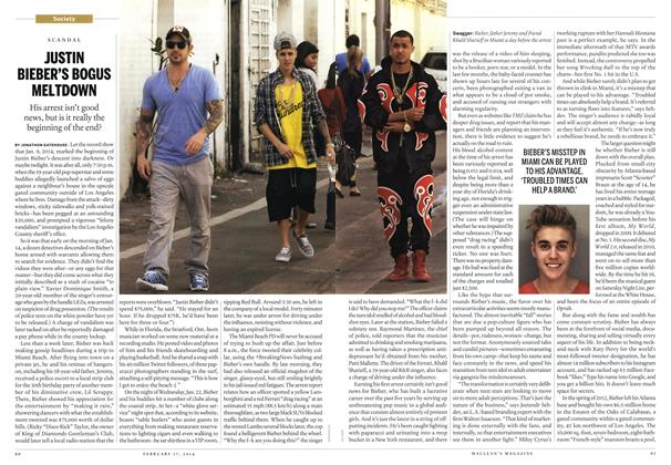 Article Preview: JUSTIN BIEBER'S BOGUS MELTDOWN, February 2014 | Maclean's
