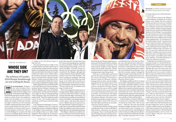 Article Preview: WHOSE SIDE ARE THEY ON?, February 2014 | Maclean's