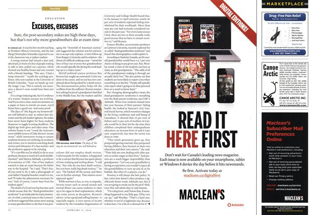 Article Preview: Excuses, excuses, February 2014 | Maclean's