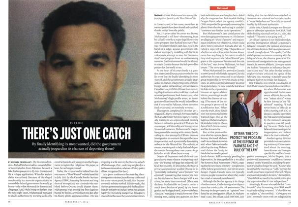 Article Preview: THERE'S JUST ONE CATCH, February 2014 | Maclean's