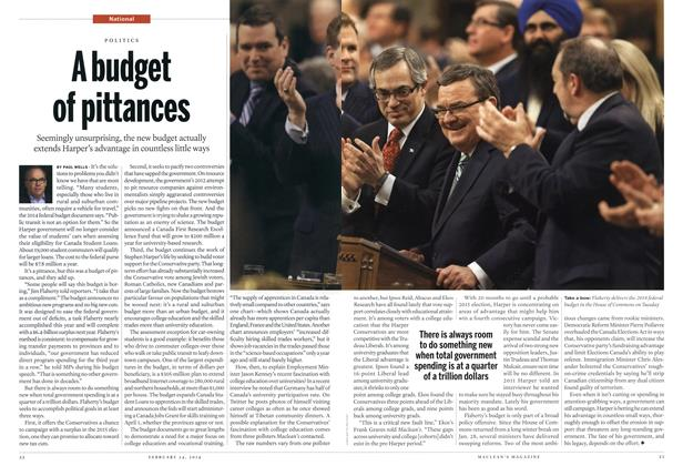 Article Preview: A budget of pittances, February 2014 | Maclean's