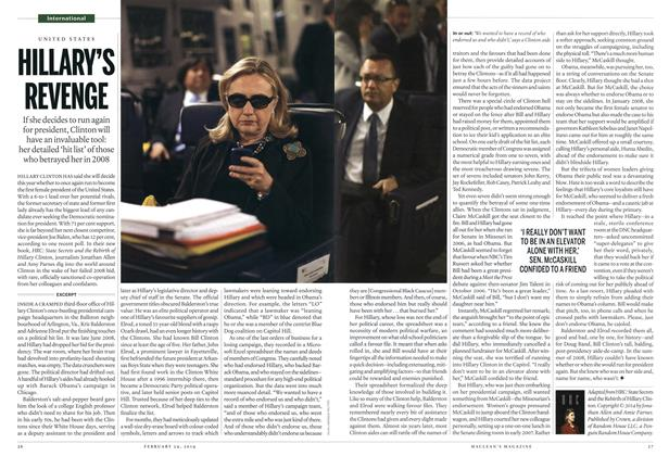 Article Preview: HILLARY'S REVENGE, February 2014 | Maclean's