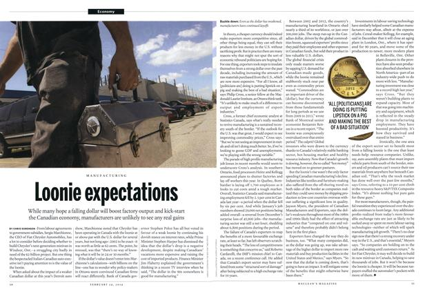 Article Preview: Loonie expectations, February 2014 | Maclean's
