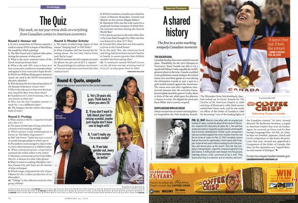Article Preview: The Quiz, February 2014 | Maclean's