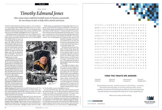 Article Preview: 1956-2014 Timothy Edmund Jones, February 2014 | Maclean's
