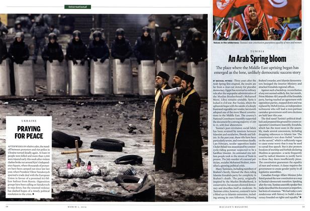 Article Preview: An Arab Spring bloom, March 2014 | Maclean's