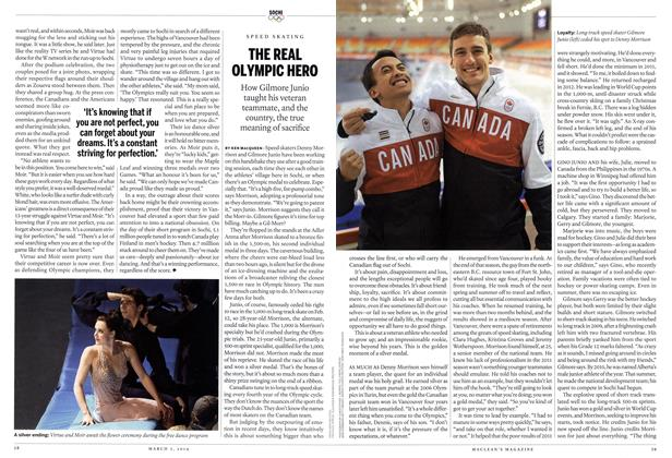 Article Preview: THE REAL OLYMPIC HERO, March 2014 | Maclean's