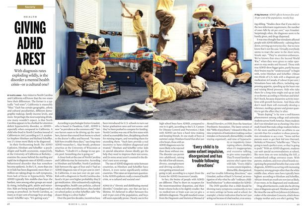 Article Preview: GIVING ADHD A REST, March 2014 | Maclean's