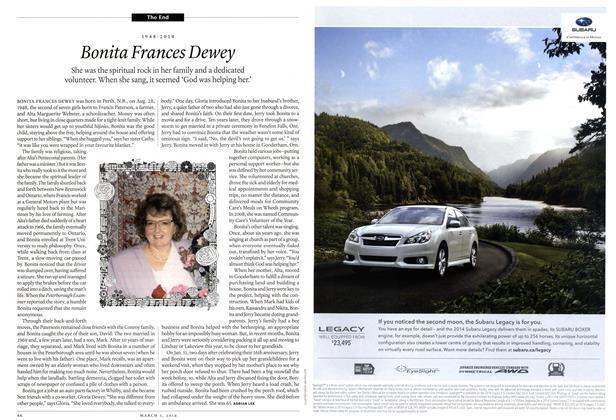 Article Preview: Bonita Frances Dewey, March 2014   Maclean's