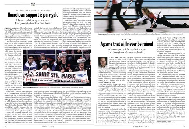 Article Preview: Hometown support is pure gold, March 2014 | Maclean's