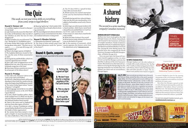 Article Preview: The Quiz, March 2014 | Maclean's