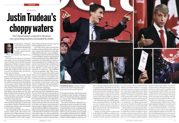 Article Preview: Justin Trudeau's choppy waters, March 2014 | Maclean's