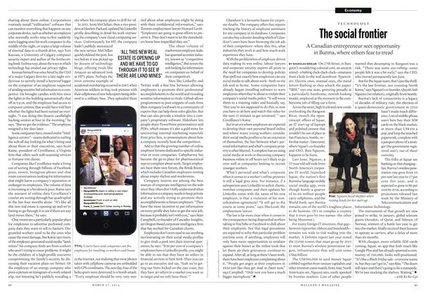 Article Preview: The social frontier, March 2014 | Maclean's