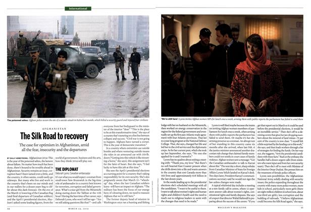 Article Preview: The Silk Road to recovery, March 2014 | Maclean's
