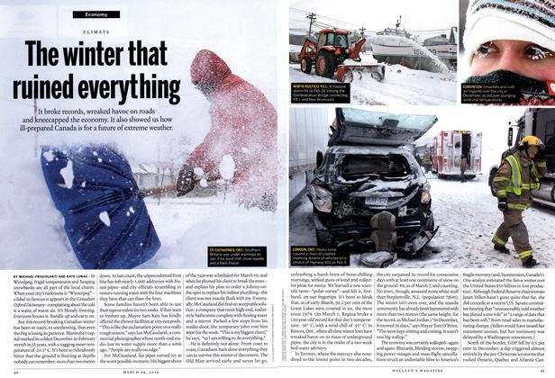 Article Preview: The winter that ruined everything, March 2014 | Maclean's