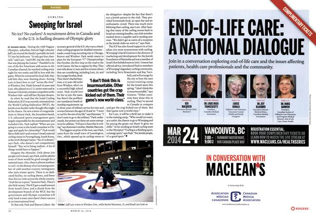 Article Preview: Sweeping for Israel, March 2014 | Maclean's