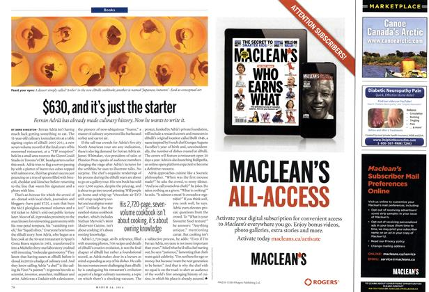 Article Preview: $630, and it's just the starter, March 2014 | Maclean's