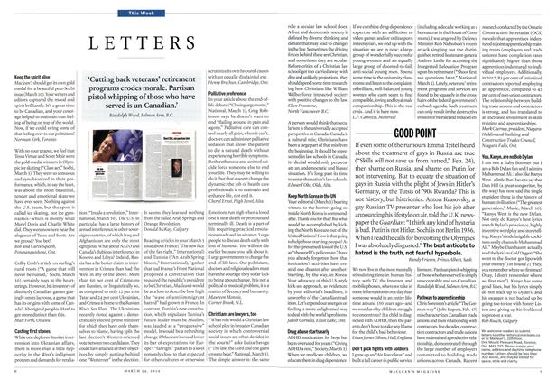 Article Preview: LETTERS, March 2014   Maclean's